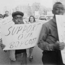 Support Our Boycott sign, 1963