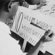 Freedom Day sign opposing Willis, 1963