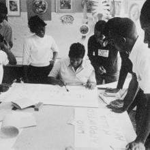 Making signs for Freedom Day, 1963