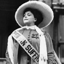 Photo of suffragist Trixie Friganza